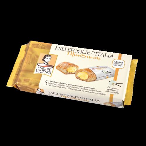 Italian Fine Pastry Vicenzi Puff Pastry Delizia Cream Roll 4.41 Oz