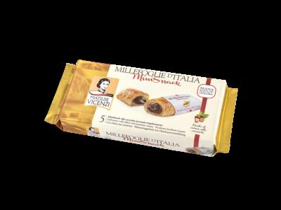 Italian Fine Pastry Vicenzi Puff Pastry Delizia Hazelnut Roll 4.41 Oz