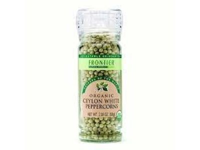 Frontier Frontier  Organic White Whole Peppercorns 2.08 oz jar
