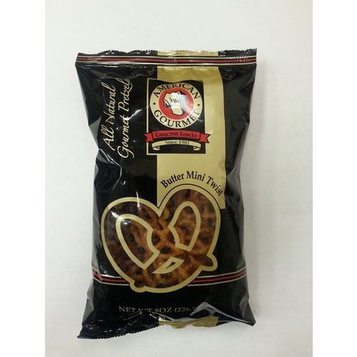 American Gourmet American Gourmet Butter Mini Twist Pretzel 8 oz Pillow bag