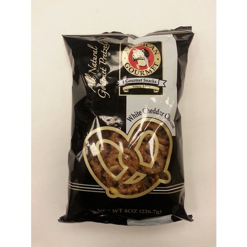 American Gourmet American Gourmet White Cheddar Cheese Pretzel 8 oz Pillow bag
