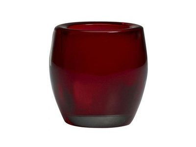 Bolsius Bolsius TeaLight Oval Holder Red 3 x 2.8 inch