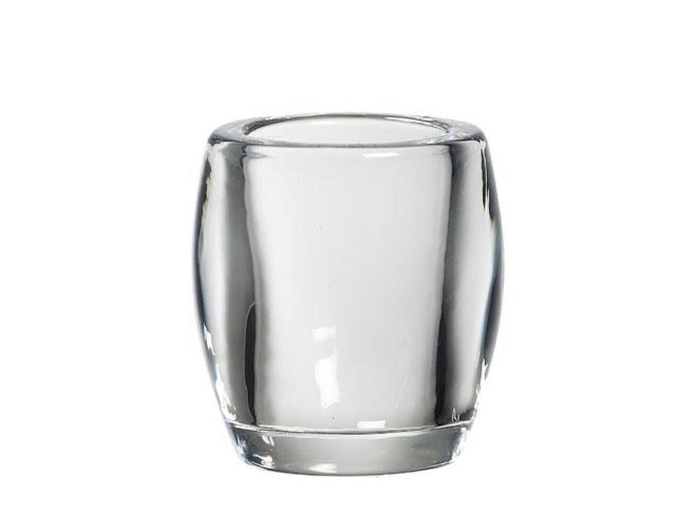 Bolsius Bolsius TeaLight Oval Holder Transparent 3 x 2.8 inch