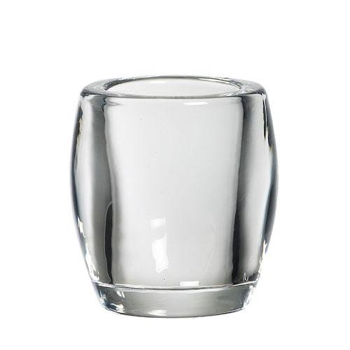 Bolsius Bolsius TeaLight Oval Holder Transparent 3 x 2.8 inch