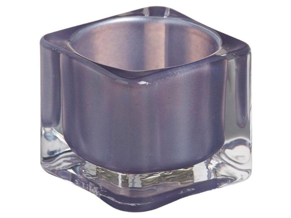 Bolsius Bolsius TeaLight Square Holder Misty Blue 1.5 x 2.2 inch