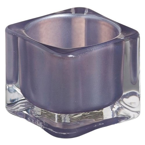 Bolsius Bolsius TeaLight Square Holder Misty Blue 1.5 x 2.2 inch