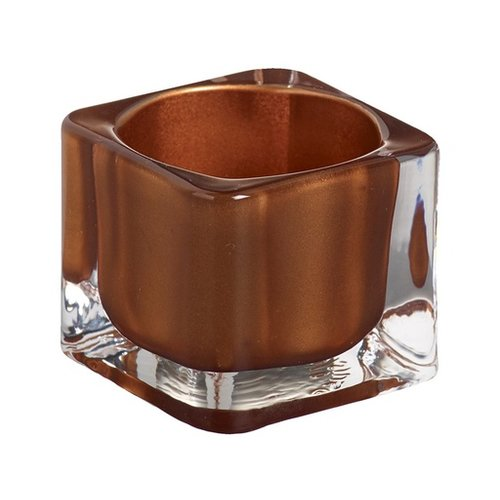 Bolsius Bolsius TeaLight Square Holder Copper 1.5 x 2.2 inch