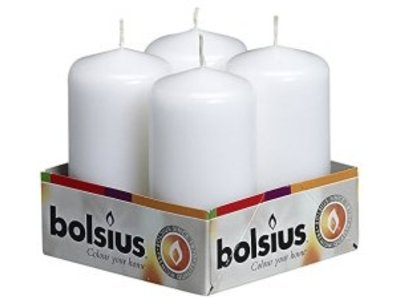 Bolsius Bolsius Pillar Candle White 4 x 2 inch