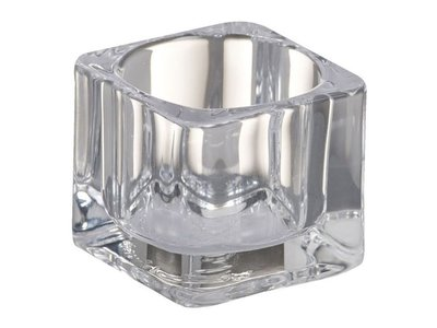 Bolsius Bolsius TeaLight Square Holder Transparent 1.5 x 2.2 inch