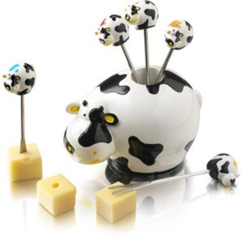 Boska Boska Party pick set cows stainless picks gift box