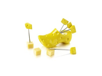 Boska Boska Yellow Clog Party Picks in Gift Box
