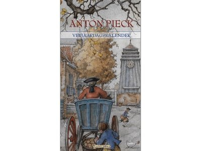 Anton Pieck Dorpsplein Birthday Calendar 7x13.6