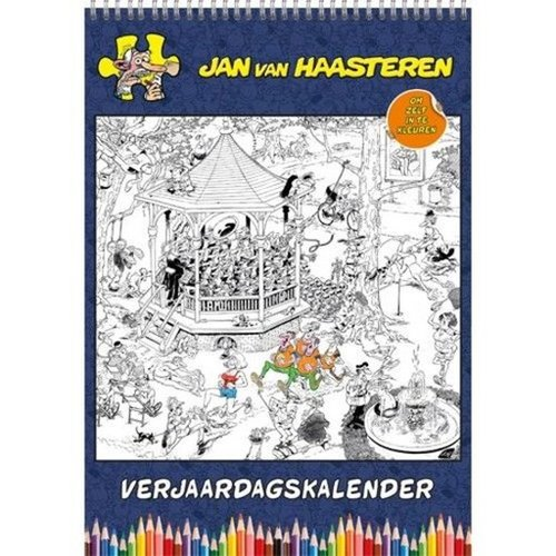Jan van Haasteren Color Yourself Calendar