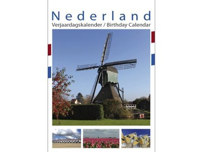 Pictures of Holland Birthday Calendar 13x17.3