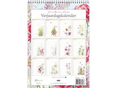 Janneke Brinkman Peony Flowers Birthday Calendar 9.8x7