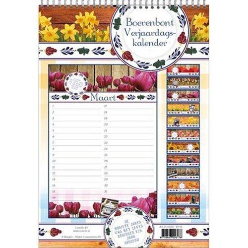 Boerenbont Birthday Calendar