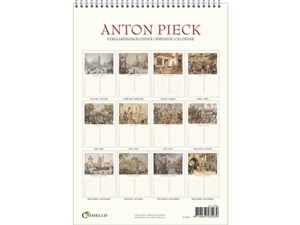 Anton Pieck Havens - Harbor views Birthday calendar