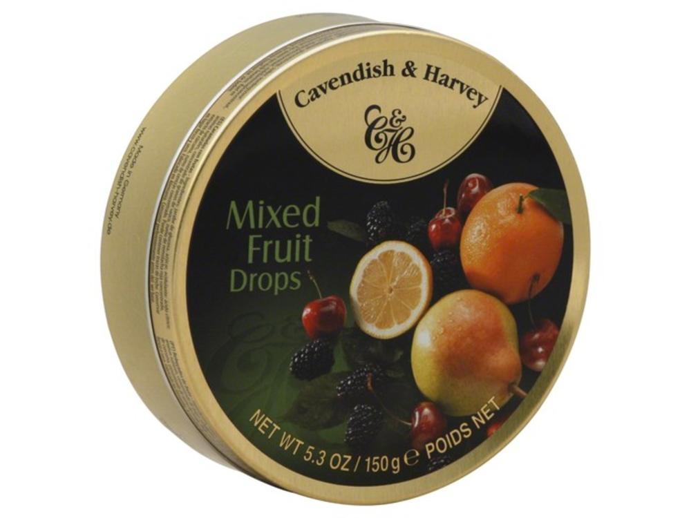 Cavendish & Harvey Cavendish & Harvey Mixed Fruit 5.3oz Tin 12/cs