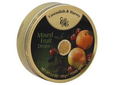 Cavendish & Harvey Cavendish & Harvey Mixed Fruit 5.3oz Tin 12/cs