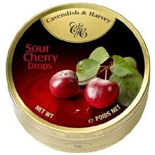 Cavendish & Harvey Cavendish & Harvey Cherry Candy 5.3oz Tin 12/cs