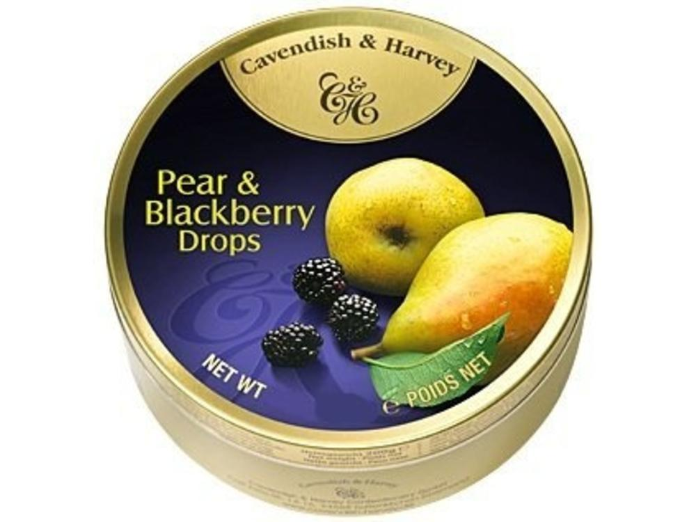 Cavendish & Harvey Cavendish & Harvey Pear And Blackberry 5.3oz Tin 12/cs