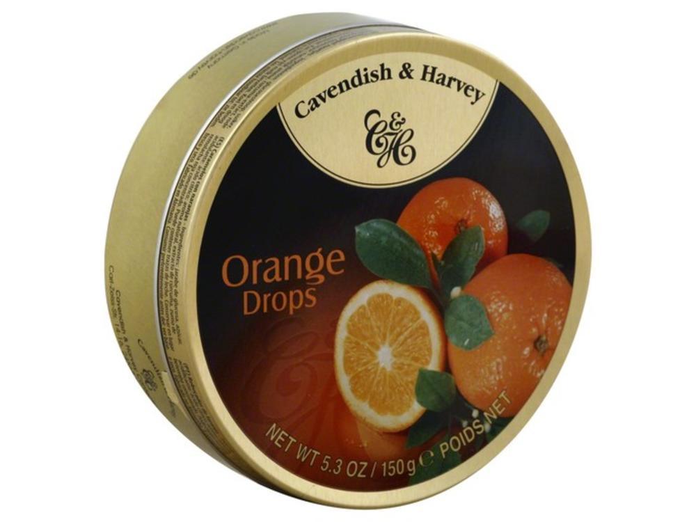 Cavendish & Harvey Cavendish & Harvey Orange Candy 5.3oz Tin 12/cs