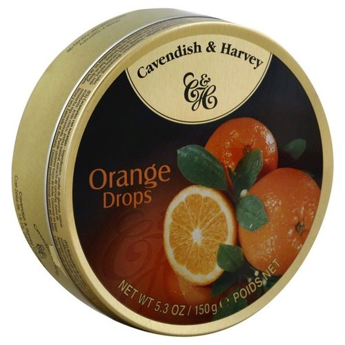 Cavendish & Harvey Cavendish & Harvey Orange Candy 5.3oz Tin 12/cs