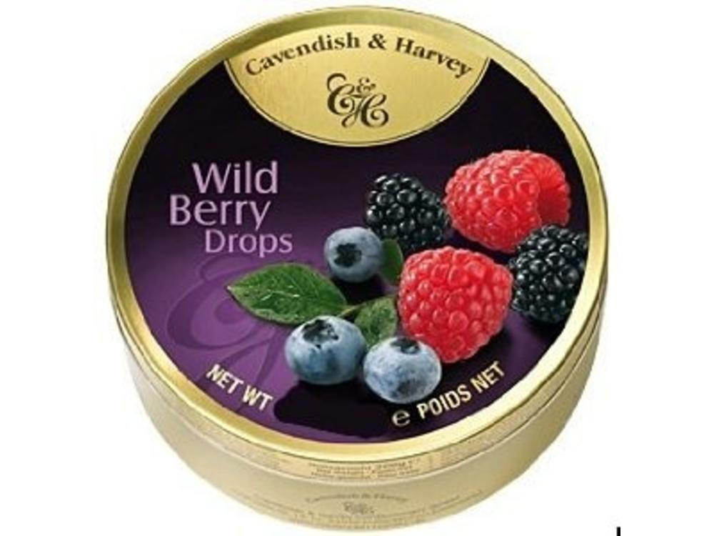 Cavendish & Harvey Cavendish & Harvey Wildberry Candy 5.3oz Tin 12/cs