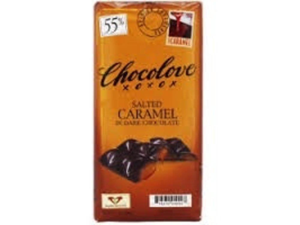 Chocolove Chocolove  Dark Choc Salted Caramel 3.2 oz Bar 10/cs