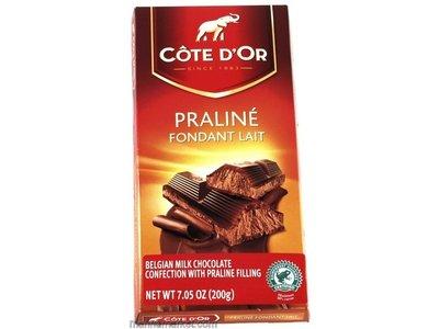 Cote D Or Cote D Or MIlk chocolate praline 7 oz bar