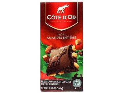 Cote D Or Cote D Or Dark chocolate & whole almonds 6.3 oz bar