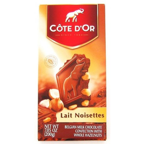 Cote D Or Cote D Or Milk chocolate & whole hazelnuts 6.3 oz bar