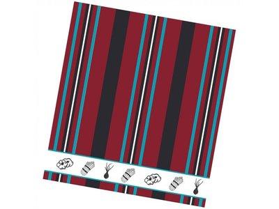 DDDDD DDDDD Veggie - Red Tea Towel 24x25 inch