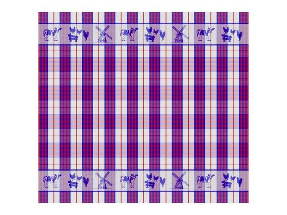 DDDDD DDDDD Farm Life Tea Towel Blue/Red 24x25 inch