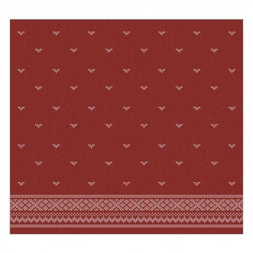 DDDDD DDDDD Fjord Red tea towel -Discontinued Pattern