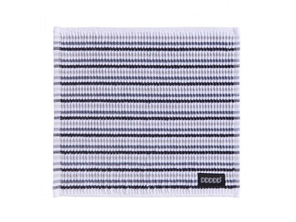 DDDDD DDDDD Dish Cloth Neutral Striped(gray white black)