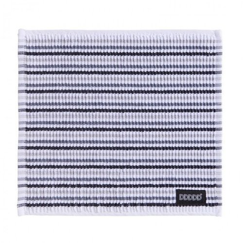 DDDDD DDDDD Dish Cloth Neutral Striped(gray white black)