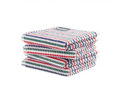 DDDDD DDDDD Dish Cloth Striped - red blue green white