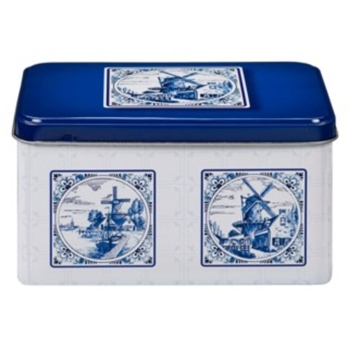 De Ruiter DeRuiter Blue Delft design Cookie Tin