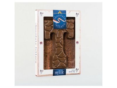 Dutch Letters DL T Milk Chocolate Letter 4.7oz