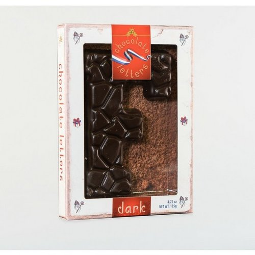 Lagosse Large Dark F Chocolate Letter 4.7oz