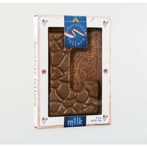 Dutch Letters DL L Milk Chocolate Letter 4.7oz