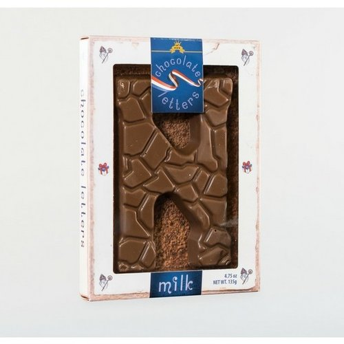 Dutch Letters DL N Milk Chocolate Letter 4.7oz