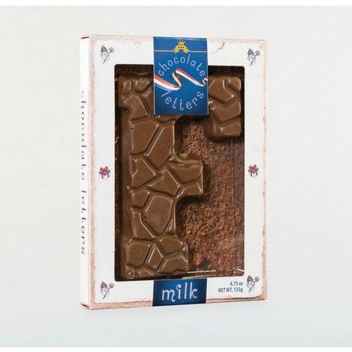 Dutch Letters DL F Milk Chocolate Letter 4.7oz