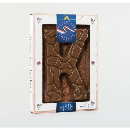 Dutch Letters DL K Milk Chocolate Letter 4.7oz