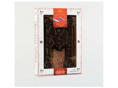 Lagosse Large Dark M Chocolate Letter 4.7oz