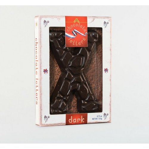Lagosse Large Dark X Chocolate Letter 4.7oz