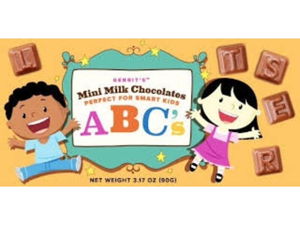 Gerrits Gerrits Milk Chocolate Mini ABC Letters 3.17 Oz