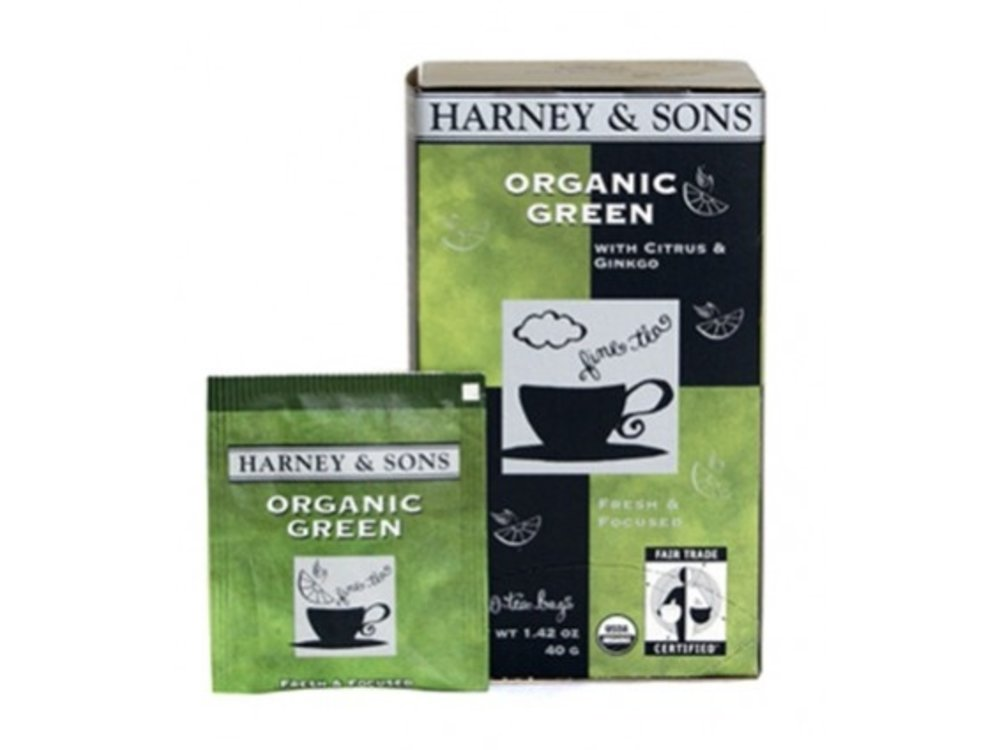 Harney & Son Harney & Sons Organic Green w/gingko & Lemon Tea 20 Ct Box