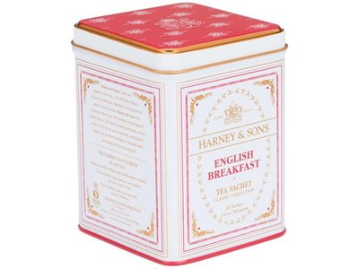 Harney & Son H&S English Breakfast 20 Ct Tea Tin Classic Collection